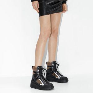 ZARA Leather Platform Airfit Mountain Boots